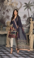 Digital Printed Lawn Shirt With Embroidered Front Digital Printed Sleeves Digital Printed Chiffon Dupatta Dyed Trouser