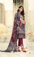 Embroidered Linen Shirt Embroidered Chiffon Dupatta Dyed Touser