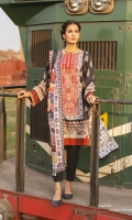 Shirt Digital Printed Dobby Shirt 3m Dyed Embroidered Cotton Shirt Center Panel 1PC Embroidered Patti 5PC Color: Multi Fabric: Dobby  Trouser Dyed Cotton Trouser 2.5m Color: Black Fabric: Cotton  Dupatta Digital Printed Broche Jacquard Dupatta 2.5m Color: Multi Fabric: Broche Jacquard
