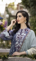 Shirt Dyed Embroidered Bemberg Crinkle Chiffon Shirt Front 0.66m Dyed Bemberg Crinkle Chiffon Shirt Back & Sleeves 2.4m Embroidered Neckline 1PC Embroidered Border 2PC Dyed Thai Silk Slip 2m Color: Dark Grey Fabric: Bemberg Crinkle Chiffon  Trouser Dyed Viscose Raw Silk Trouser 2.5m Color: Dark Grey Fabric: Viscose Raw Silk  Dupatta Digital Printed Viscose Chiffon Dupatta 2.5m Color: Multi Fabric: Viscose Chiffon