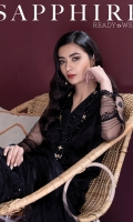 Details: Embroidered Front, Embroidered Back, Full Sleeves with Embroidery, Y Neckline Color: Black Fabric: Blended Net  Blended Net Dupatta Color: Black