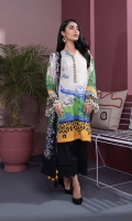Details: Printed Front, Printed Back, Full Sleeves with Embroidered Border, Embroidered Round Neck with Split Color: Off White Fabric: Textured Lawn  Viscose Chiffon Dupatta Color: Off White