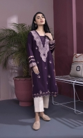 Embroidered Front, Plain Back, Full Sleeves with Embroidered Border, Square Neck