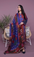 Printed & Embroidered Front, Printed Back, Full Sleeves, Round Neck with Split Dupatta This textured voile dupatta is immersed in glorious print and can be matched with Scarlet base kurta.