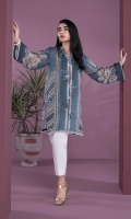 Printed & Embroidered Front, Printed Back, Full Sleeves, Y Neckline