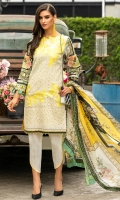 Package includes: -Chikan embroidered front -Digital print back and sleeves -Digital print silk dupata -Dyed trousers