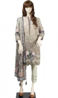 Embroidered Cambric Unstitched 3 Piece Suit