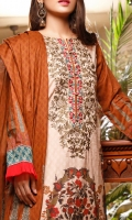 3.0 Meter Digital Printed Lawn Embroidered Shirt. 2.5 Meter Digital Printed Lawn Dupatta . 2.5 Meter Dyed Trouser