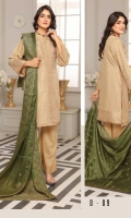 3PC Viscose Linen Broshia Banarsi Suit
