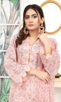 Embroidered Lawn Shirt Embroidered Chiffon Dupatta Dyed Trouser