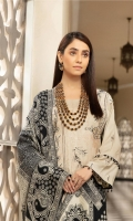 Embroidered Peach Shirt Jacquard Wool Shawl Dyed Trouser