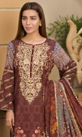 embroidered linen unstitched 3pc suit