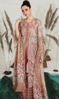 Front panels 2  Front border 26 Inches  Back patch 25 Inches  Back 1 M  Back border 4 Lines  Sleeves 2  Dupatta 2.5 M  Grip Silk slip  Trousers 2.5 M