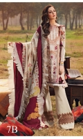 -EMBROIDERED DOBBY FRONT LAWN 1.15 METER  -PRINTED DOBBY BACK LAWN 1.2S METER  -PRINTED DOBBY SLEEVES 0.67 METER  -PLAIN CAMBRIC TROUSER 2 METER  -JACQUARD DUPATTA 1 PC  -EMBROIDERED DAMAN BORDER 30 INCH  -EMBROIDRED SIDE PANEL 13 INCH