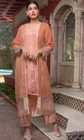 Luxury Pret Raw Silk 3 Piece Suit
