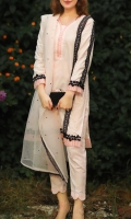 This Kurta with Detailed Hand Embroidery is Perfect for Chic Classy Look. It Completes the Look with Bell Pants and Embroidered Organza Dupatta