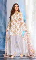 3 PCS Printed Ladies Suit (100% Cotton Fabric) 2.5 Meters Shirt + sleeves 2.5 Meter Dupatta 2.5 Meter Trouser Shirt: Lawn Dupatta: Lawn Trouser: Lawn