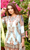 Lawn Embroidered Front Printed Back & Sleeves Embroidered Bamber Chiffon Dupatta Dyed Trouser