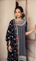 DYED EMBROIDERED GRIP FRONT  DYED GRIP BACK  DYED EMBROIDERED SLEEVES  EMBROIDERED & HAND EMBELLISHED WITH MIRROR WORK ORGANZA NECKLINE  MARINA EMBROIDERED WITH PANNI EMBELIISHED SHAWL  MULTI COLOERED EMBROIDERED ORDER