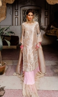 ALL OVER EMBROIDERED TIISSUE FRONT  TISSUE BACK  EMBROIDERED TISSUE SLEEVES  TISSUE DUPATTA  HAND EMBELLISHED ORGANZA NECKLINE