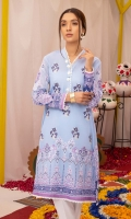 Paste Printed Lawn Shirt Embroidered Front