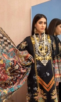 Digitally Printed Lawn Shirt Dyed Lawn Trouser Digitally Printed Lawn Dupatta Embroidered Neckline Embroidered Border