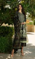 Embroidered silk karandi front Dyed silk karandi back Dyed silk karandi sleeves Dyed silk karandi trouser Printed munar cotton silk dupatta