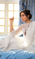 Embroidered Net Front Embroidered Net Sleeves Embroidered Net Dupatta  Embroidered Border Patch Dyed Cotton Net Back  Dyed Viscose Trouser