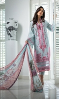 Embroidered Front Dyed Back Dyed Sleeves Embroidered Border Hem Patch Dyed Trouser Digital Print Chiffon Dupatta