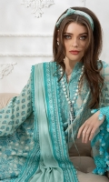 Embroidered Front Dyed Back Digital Print Sleeves Dyed Trouser Dyed Cotton Net Embroidered Dupatta Embroidered Patches for Dupatta
