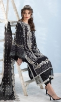 Embroidered Front Digital Printed Sleeves Dyed Back Digital Print Trouser Embroidered Chiffon Dupatta