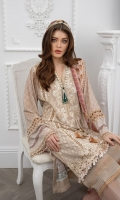 Embroidered Centre Panel Embroidered Side Panel (2pieces) Embroidered Border Hem Patch Digital Print Sleeves Digital Print Back Dyed Trouser Digital Print Chiffon Dupatta