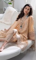 Jacquard Front Jacquard Back Jacquard Sleeves Embroidered Neckline Patch Embroidered Border Hem Patch Embroidered Sleeve Hem Finishing Dyed Trouser Embroidered Trouser Patch Embroidered Net Dupatta