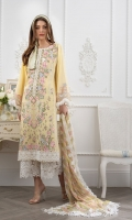 Embroidered Front Embroidered Border Hem Patch Embroidered Sleeve Patch Digital Print Back Dyed Sleeves Dyed Trouser Digital Print Chiffon Dupatta Embroidered Patches for Dupatta