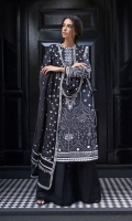 Paste Print Front  Paste Print Back  Paste Print Sleeves  Embroidered Neckline Patch  Plain Dyed Trouser  Chiffon Embroidered Dupatta  Embroidered Dupatta Patch