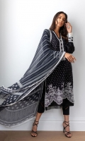 Shifly Embroidered Front  Plain Dyed Back  Plain Dyed Sleeves  Plain Dyed Trousers  Chiffon Printed Dupatta