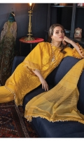 Embroidered Front Dyed Back Dyed Sleeves Dyed Trouser Dyed Zarri Cotton-Net Dupatta