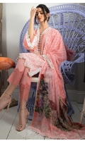 Embroidered Front Dyed Back Dyed Sleeves Dyed Trouser Digital Print Chiffon Dupatta