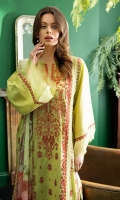 Embroidered Front Digital Print Back Dyed Sleeves Dyed Trouser Digital Print Chiffon Dupatta
