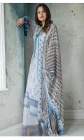 Embroidered Front Digital Printed Back Digital Printed Sleeves Dyed Trouser Digital Print Chiffon Dupatta