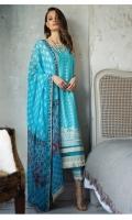 Embroidered Front Digital Printed Back Digital Printed Sleeves Dyed Trouser Digital Print Dupatta