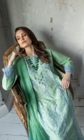 Embroidered Centre Panel Embroidered Side Panel Digital Print Back Dyed Sleeves Dyed Trouser Digital Print Chiffon Dupatta