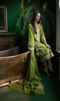 Embroidered Centre Panel Embroidered Side Panel Digital Print Back Dyed Sleeves Dyed Trouser Zarri Cotton-Net Dupatta