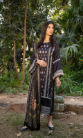 Embroidered Cottel Front with Border Dyed Cottel Back Dyed Cottel Sleeves Dyed Cottel Trouser Printed Twill Wool Shawl