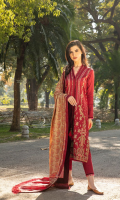 Embroidered Cottel Front with Patti Dyed Cottel Back Dyed Cottel Sleeves Dyed Cottel Trouser Printed Twill Wool Shawl