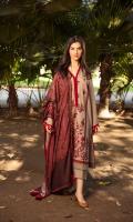 Embroidered Khaddar Front Dyed Khaddar Sleeves Dyed Khaddar Back Dyed Khaddar Trouser Printed Twill Wool Shawl