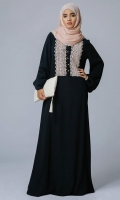 Formal Crepe Stitched Abaya Dusk Black
