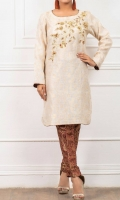 Stright Shirt with Beautiful Hand Work on Front, Straighht Pants Organza Duppta with 4 Side Finishing Lace