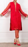 Straight Shirt Hand Embrodery on Neck Line and Sleeves Jamawar Straight Pants Organza Duppta With 4 Side Finishing Lace and Hand Touching