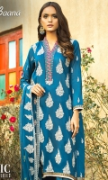 -Lawn Shirt Front 1.15 Mtr  -Lawn Shirt Back 1.75 Mtr  -Lawn Trouser 2.5 Mtr  -Sleeves from back  -Embroidered Crinkle Dupatta